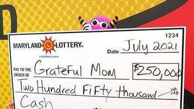 An Uber Eats driver discovered she had won $250,000 on a scratch-off lottery ticket while waiting for her next delivery in Maryland