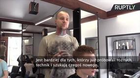 Fryzura utrwalona żywym ogniem – atrakcja w salonie fryzjerskim w Petersburgu