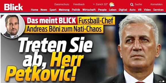 Glavna vest na naslovnoj strani