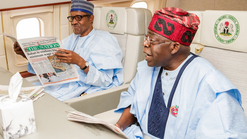 President Muhammadu Buhari with APC National Leader, Bola Tinubu