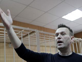 FILE PHOTO: Russian opposition leader Navalny attends hearing after being detained at protest agains