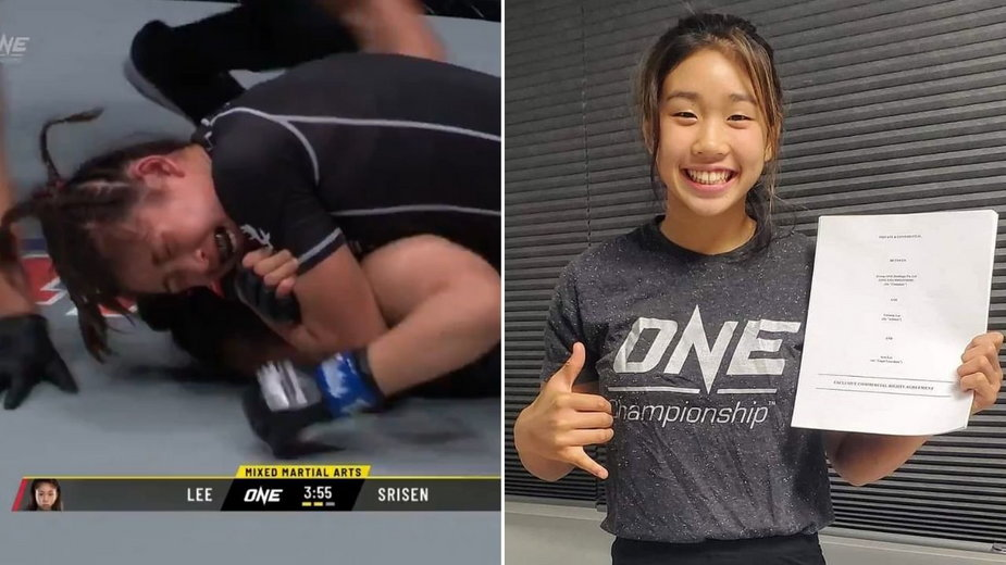 WIDEO: 16-letnia Victoria Lee udanie zadebiutowała w zawodowym MMA poddając rywalkę