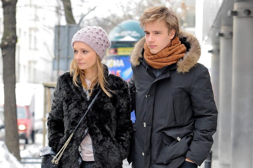 Maciej Musiał z mamą