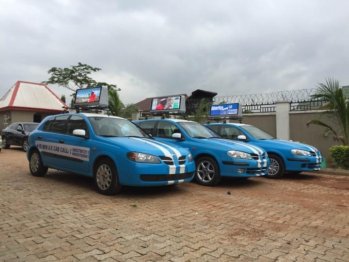 Blue and White Asaba cabs [Nairaland]