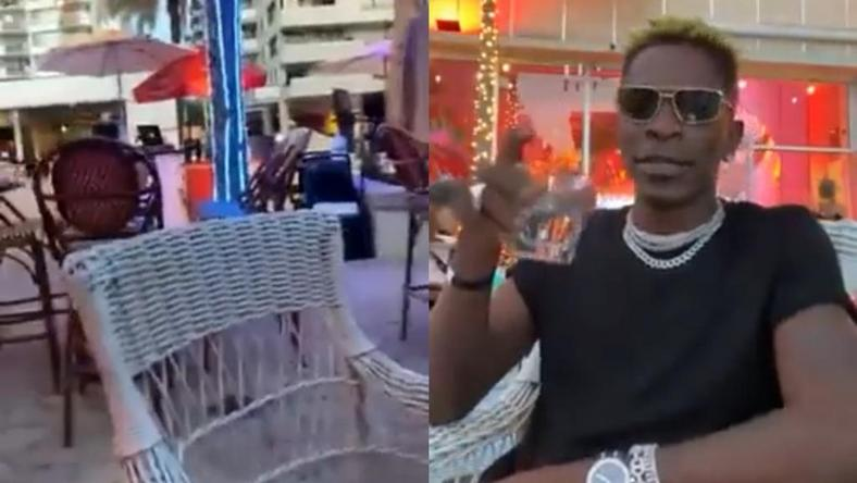 Why are they not playing 'Kpuu Kpa' here? – Shatta Wale asks in Miami bar (WATCH)