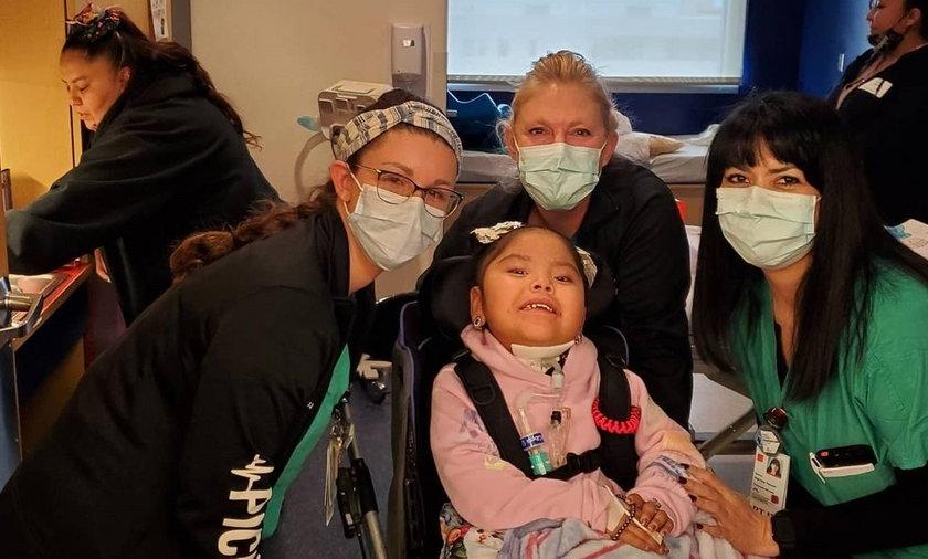 Czteroletnia Stella Martin spędziła dziewięć miesięcy w szpitalu.