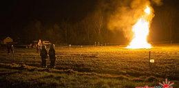 Erupcja ropy i gazu w Sękowej koło Gorlic