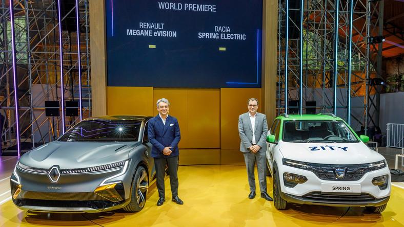 Renault Mégane eVision i Dacia Spring Electric