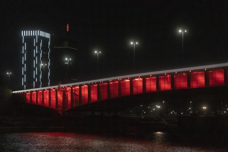 Španija, Beograd, Španska zastava, Osvetljenje