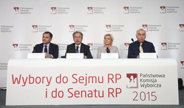 Wyniki wyborów 2015: Konferencja prasowa PKW.