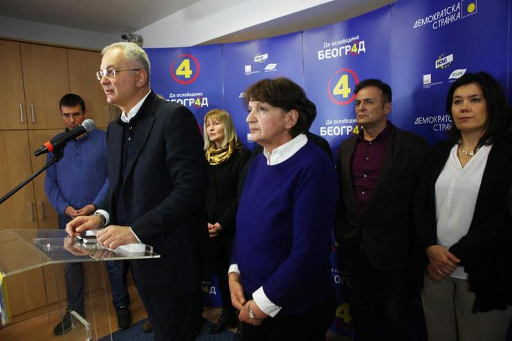 Dragan Šutanovac, DS, Demokratska stranka, Izborni štab