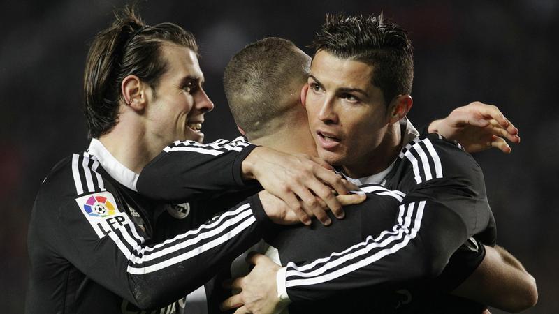 Gareth Bale, Karim Benzema i Cristiano Ronaldo