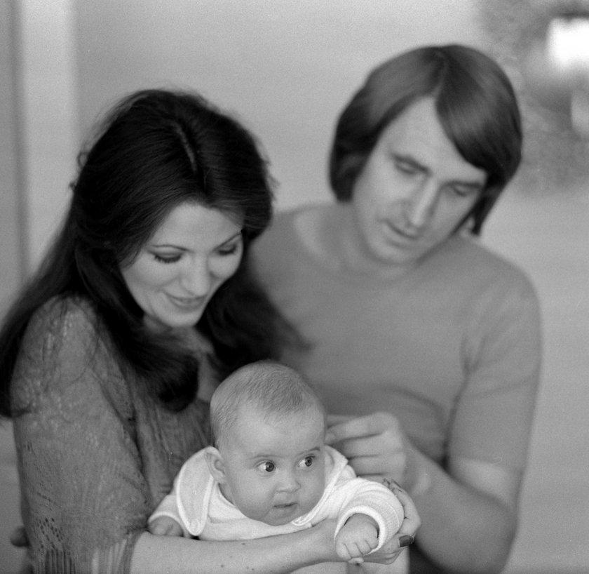 Anna Jantar z mężem Jarosławem Kukulskim i córką Natalią