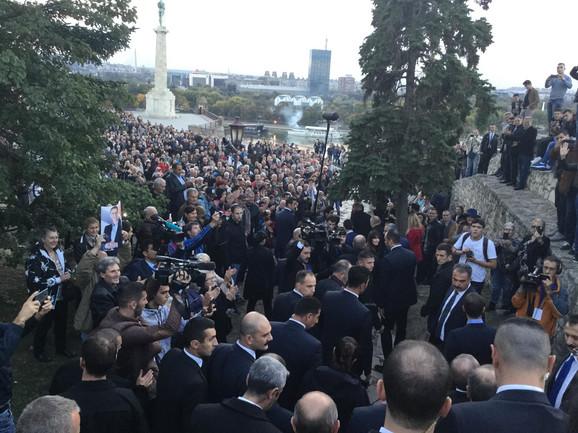 Erdogan i Vučić na Kalemegdanu 2017. godine