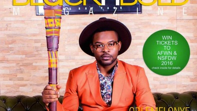 Falz on the cover of BlacknBold magazine