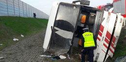 Wypadek autokaru na A2. Kierowca przesłuchany