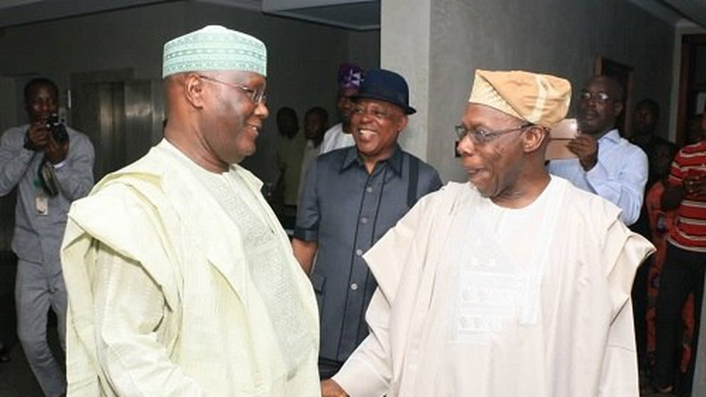 Atiku Abubakar (left) has the backing of his former boss, Olusegun Obasanjo (right), to become Nigeria's next president