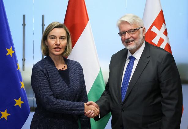 Federica Mogherini i Witold Waszczykowski