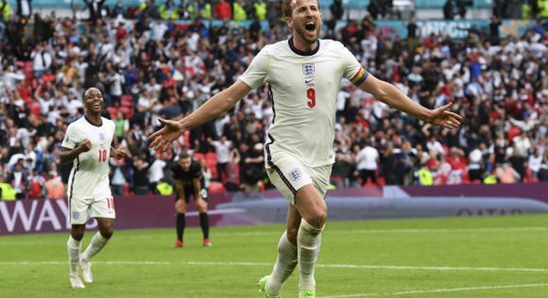 Les deux buteurs de lors de la victoire de l'Angleterre 2 - 0 contre l'Allemagne en 8e de finale de l'Euro 2021