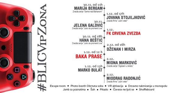 Raspored gostovanja na Blic VIP zoni