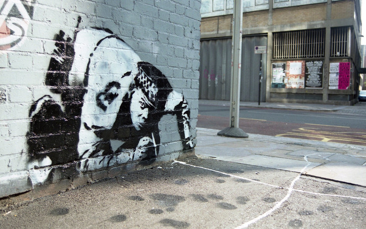 snorting copper benksi banksy