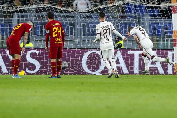 Detalj sa meča Roma - Torino