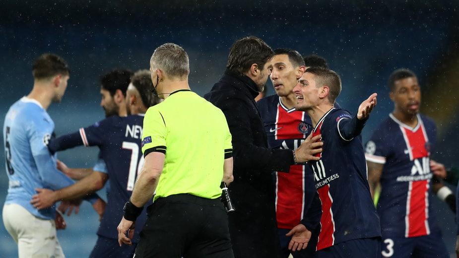Olbrzymie zamieszanie podczas meczu M City - PSG