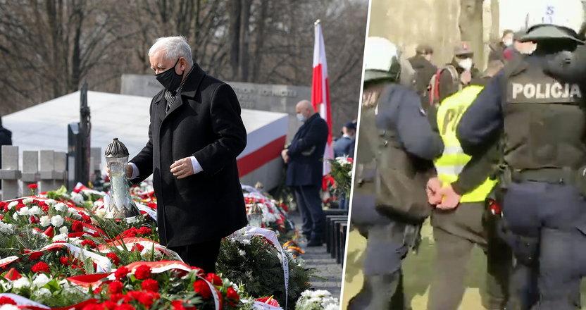 Obchody rocznicy katastrofy smoleńskiej. Zobacz, co działo się tuż obok Kaczyńskiego [RELACJA]