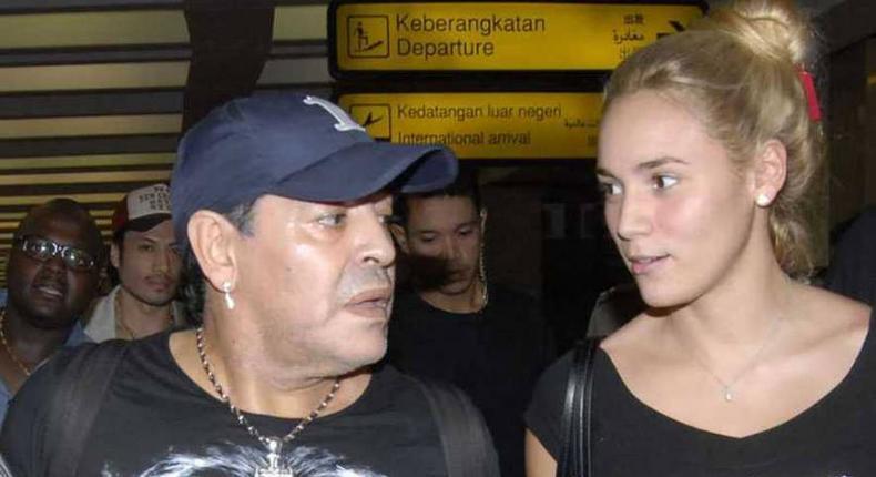 File pic of Diego Maradona and Rocio Oliva.