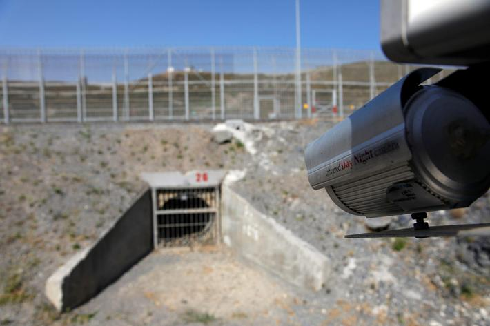 The border fence separating Spains northern enclave Ceuta and Morocco is seen from Ceuta