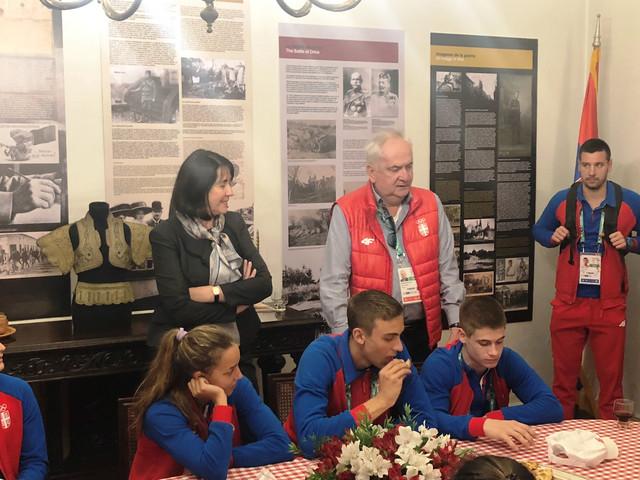 Božidar Maljković je sa našim sportistima bio gost ambasadorke Srbije u Argentini Jele Baćović