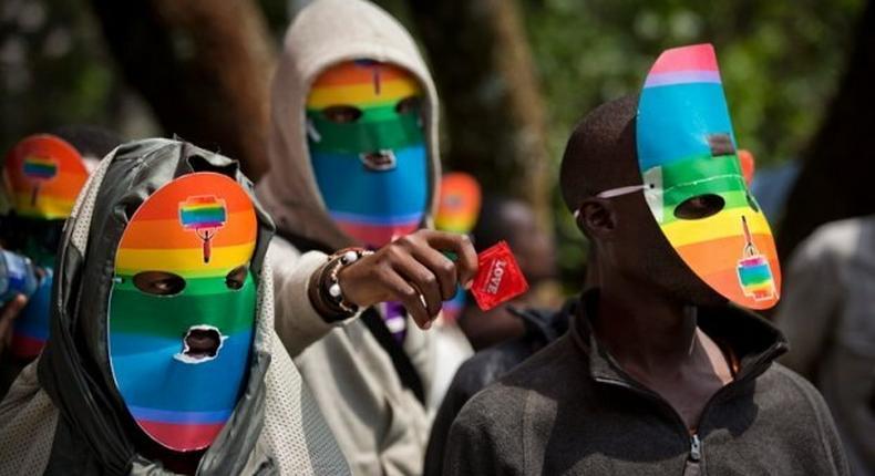 LGBTI advocates during a past pride march