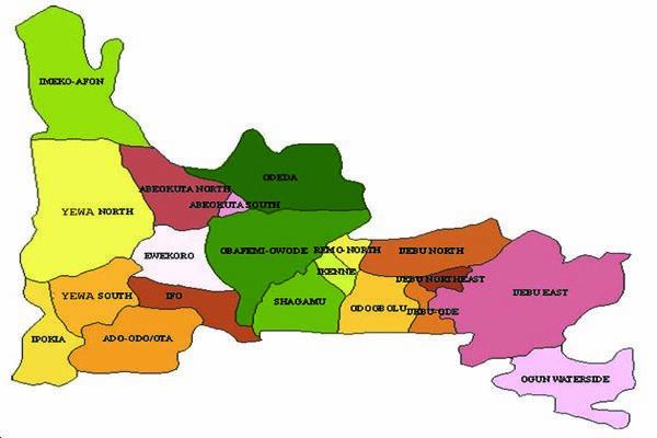 Map of Ogun State. (VON)