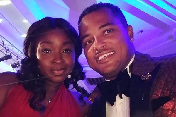 Van Vicker and his wife, Adwoa