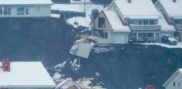 Horror w Norwegii. Ogromna dziura w ziemi pochłonęła domy. Wielu rannych