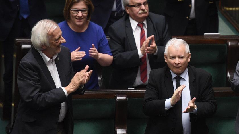 Jarosław Kaczyński po głosowaniu.