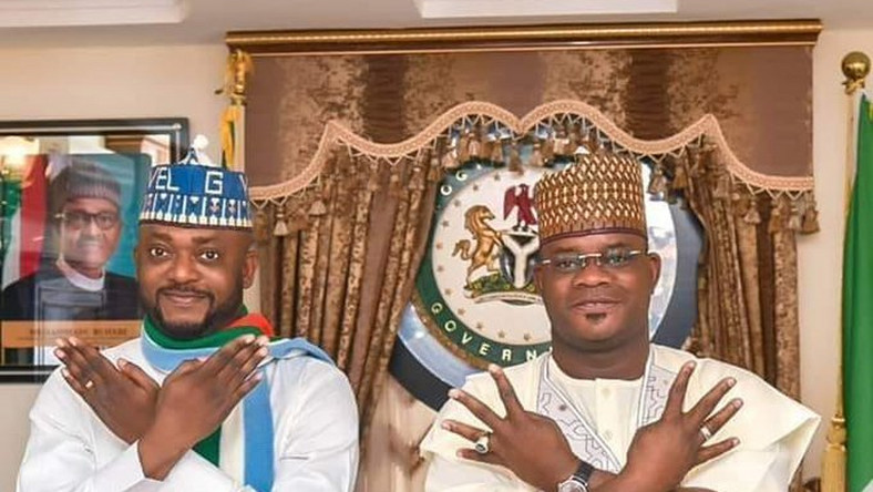 Gov Yahaya Bello has settled for Edward Onoja as his running mate (Twitter: @Bellocenter)