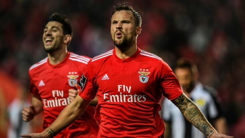 On target: Benfica's Swiss forward Haris Seferovic