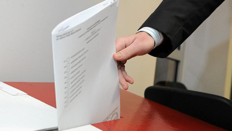 Karta do głosowania z 2014 roku