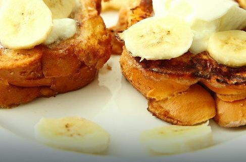 Tosty francuskie z bananami, fot. www.facetikuchnia.com.pl