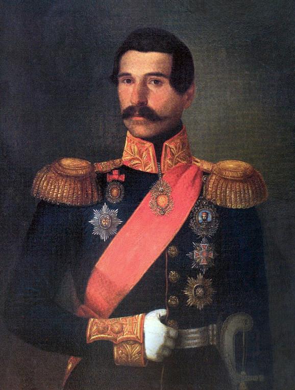 """Uroš Knežević, """"Portret kneza Aleksandra Karađorđevića"""" (detalj)"""