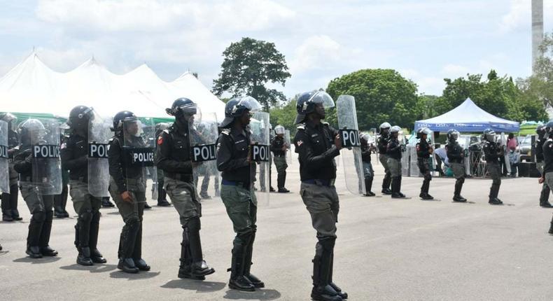Nigerian police officers [NPF]