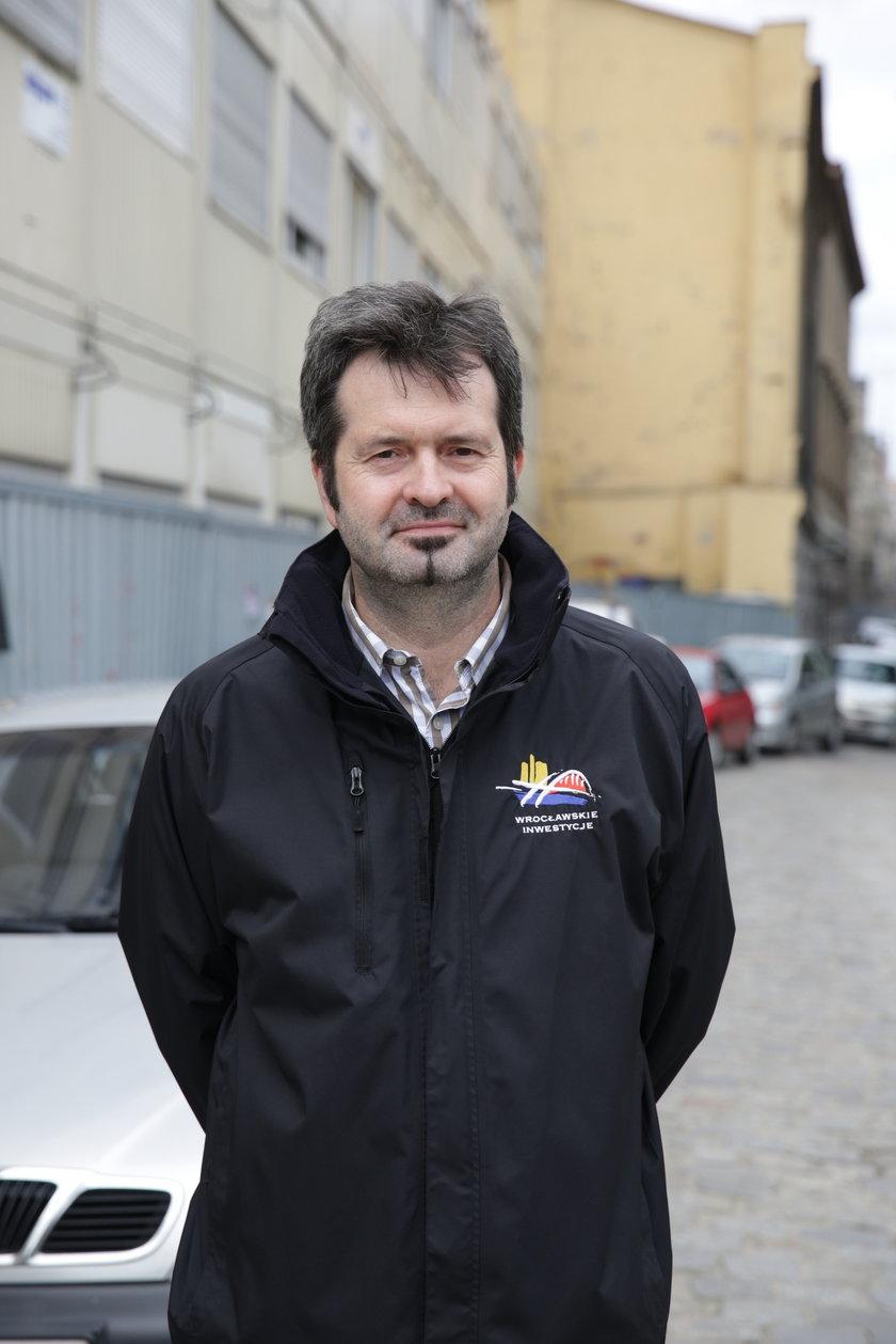 Marek Szempliński (52 l.), rzecznik Wrocławskich Inwestycji
