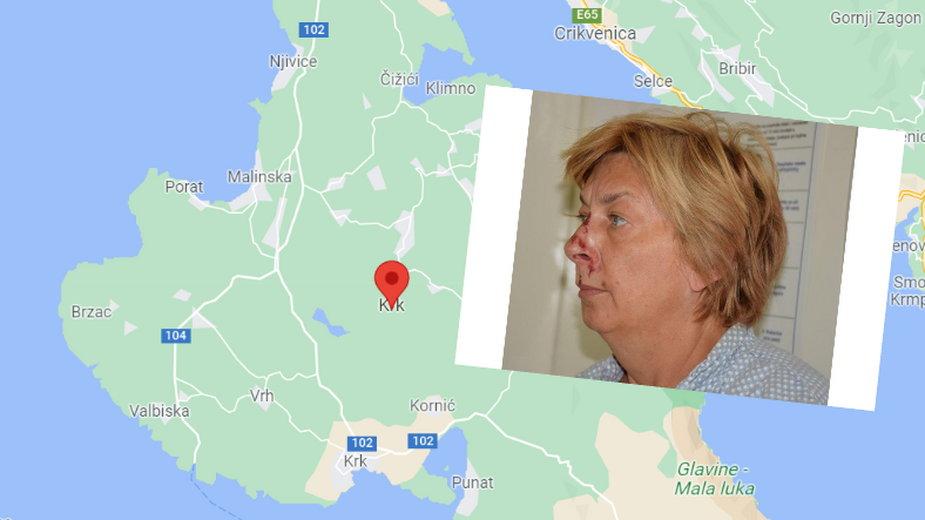 Kobieta znaleziona na brzegu wyspy w Chorwacji