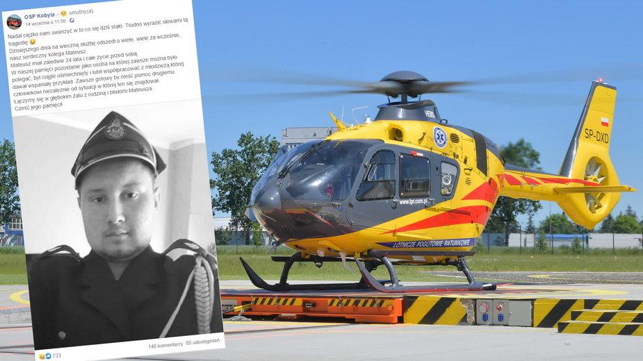 Młody strażak zmarł po porażeniu prądem(fot. facebook.com/@OSP Kobyla)