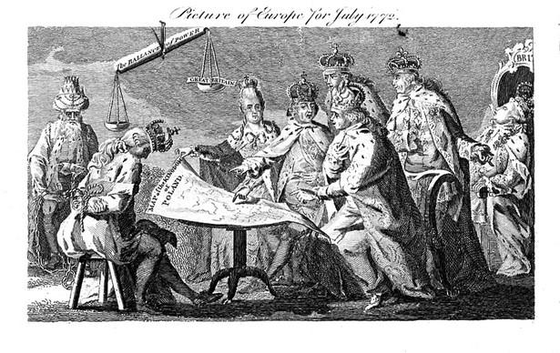 XVIII-wieczna, brytyjska alegoria I rozbioru Polski