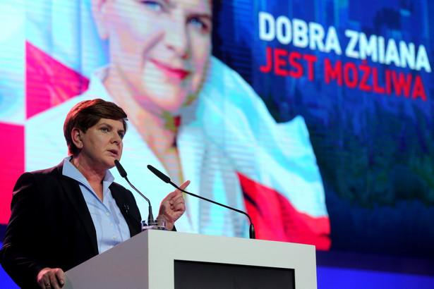 Beata Szydło na konwencji w Katowicach