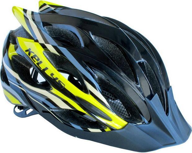 Kask rowerowy Dynamic black-sun yellow