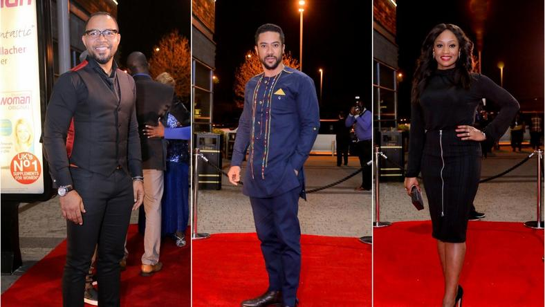Ramsey Nouah, Majid Micheal, Uku Eke at Busted Life Movie premiere