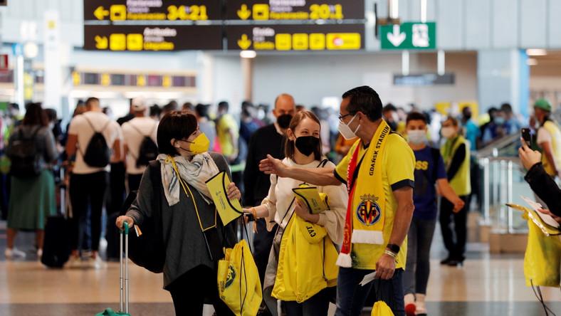 Fani Villarreal na lotnisku w Walencji